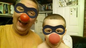 red nose faces