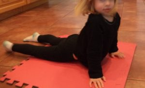 kids Christmas yoga