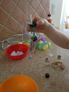 Easter egg magnet science fun