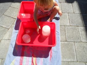 ice messy play