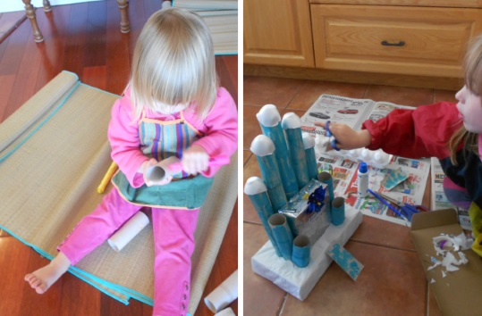 messy craft play