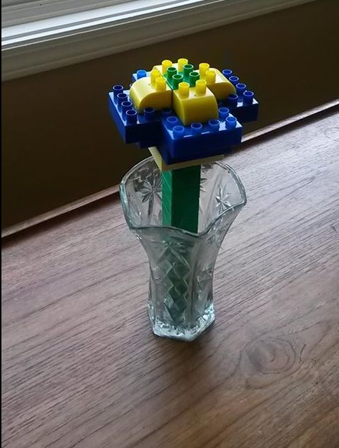 Mother's Day Lego flowers