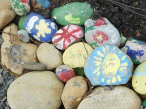 painted rock play activity
