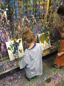 messy painting activities