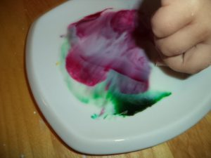 magic milk swirling colors science experiment