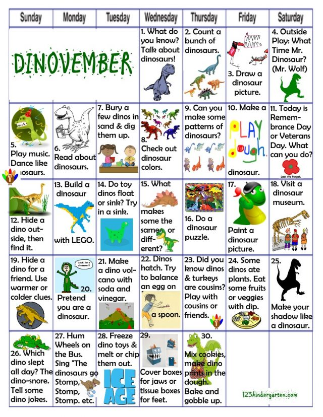 Dinovember fun activities