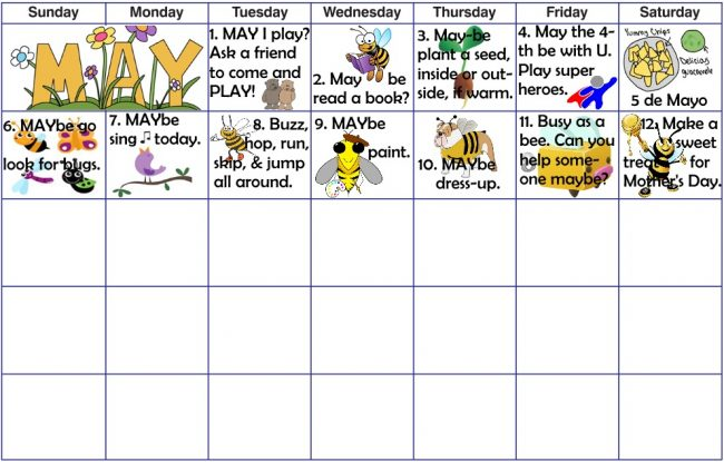 play activities for May