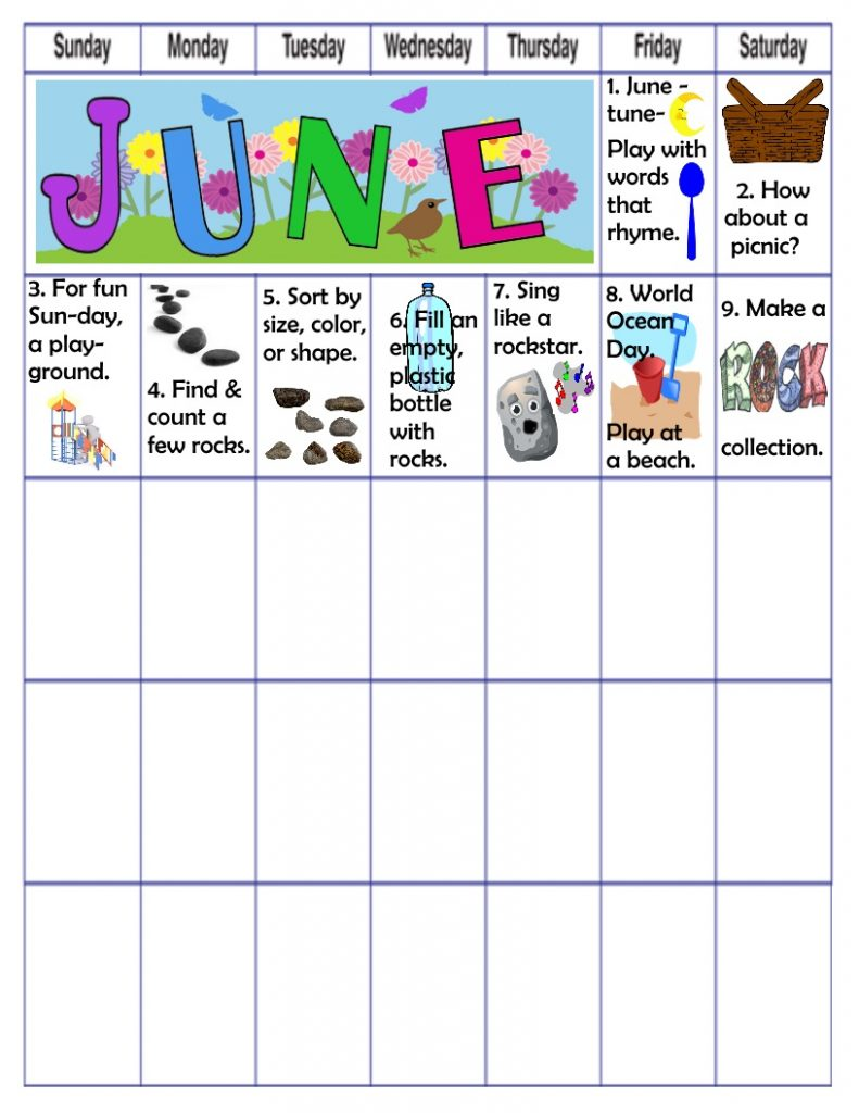 June fun learning play activities