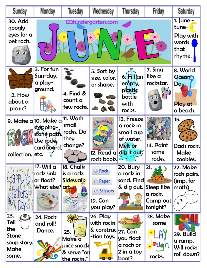 June play activities for kids