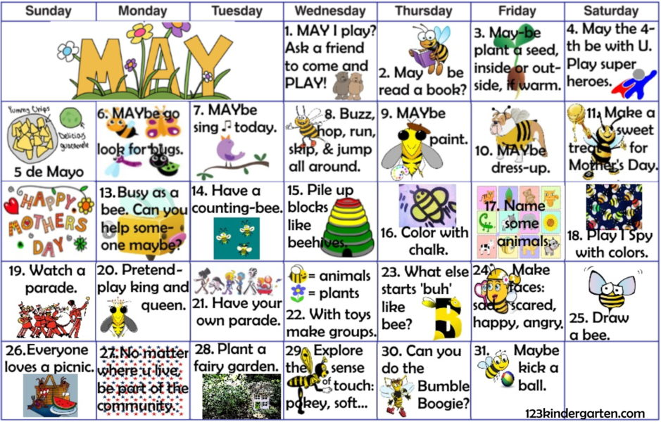May play activities for kids